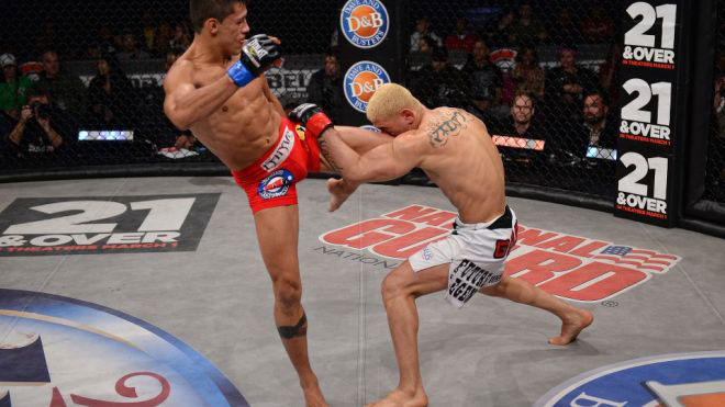Gustavo Dantes defends his Bellator Championship by knocking out Marcos Galvao